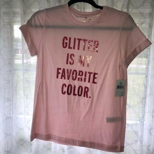 Kate Spade Glitter Is My Favorite Color Shirt NWT